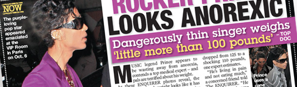 National Enquirer's article about Prince's hip issues featuring Dr. Raj
